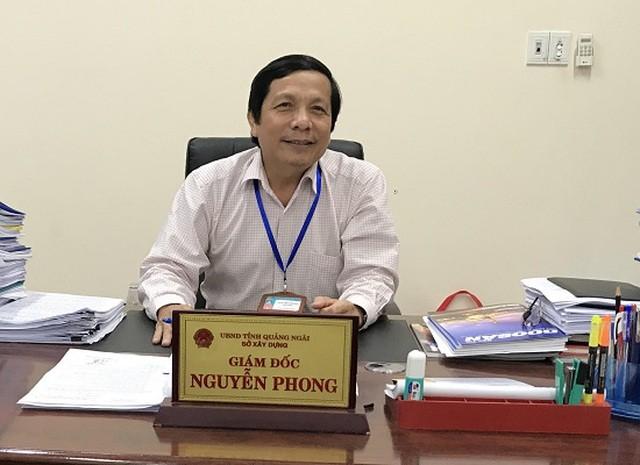Giám đốc Sở Xây dựng Nguyễn Phong bị kỷ luật cảnh cáo. - Ảnh: Dân Trí