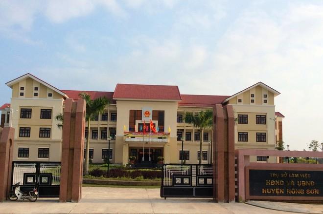 Trụ sở UBND H.Nông Sơn, nơi hai phó phòng công tác. - Ảnh: Thanh Niên