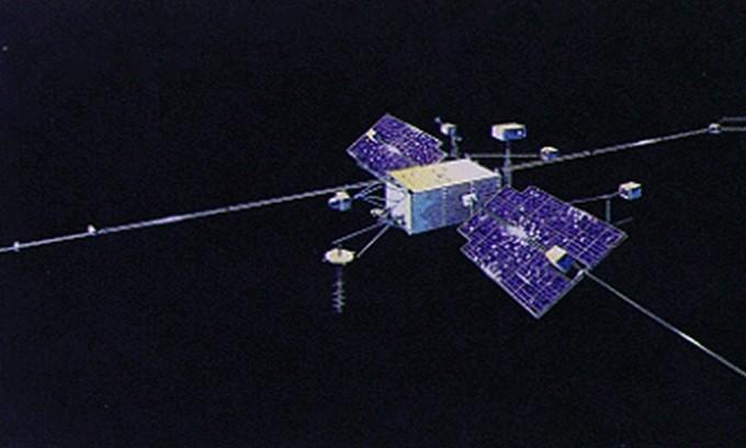 OGO-1 khi còn hoạt động trên quỹ đạo. - Ảnh: Wiki.