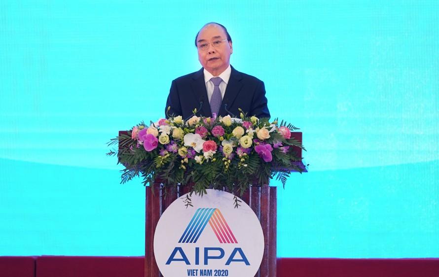 Thủ tướng Nguyễn Xuân Phúc phát biểu tại lễ khai mạc AIPA 41 - Ảnh: VGP/Quang Hiếu