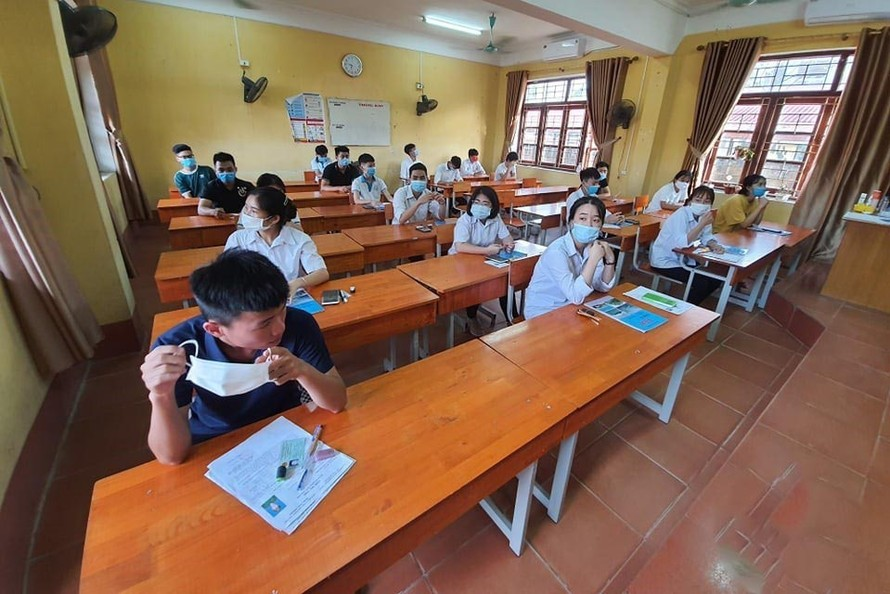 Các thi sinh dự thi tốt nghiệp THPT năm 2020. - Ảnh: Vietnamnet