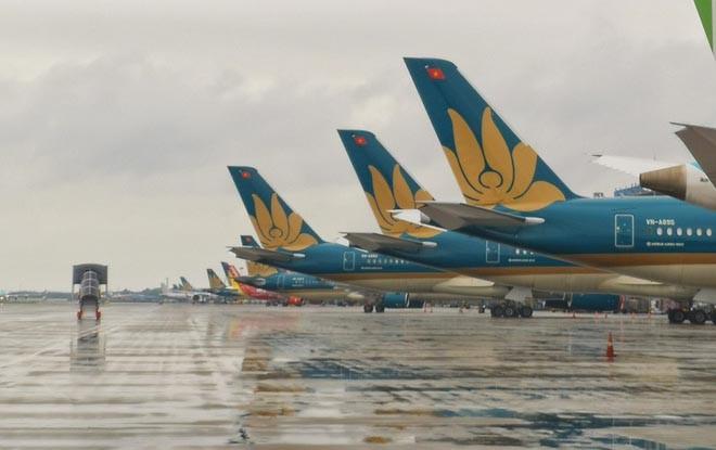 Sân bay Nội Bài thường có mưa dông trong vài ngày gần đây. - Ảnh minh họa: Zing.vn