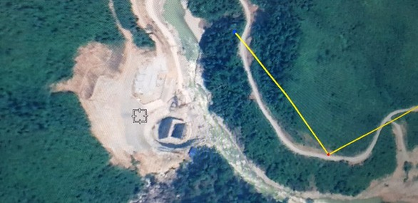 Khu vực công trường thủy điện Rào Trăng 3