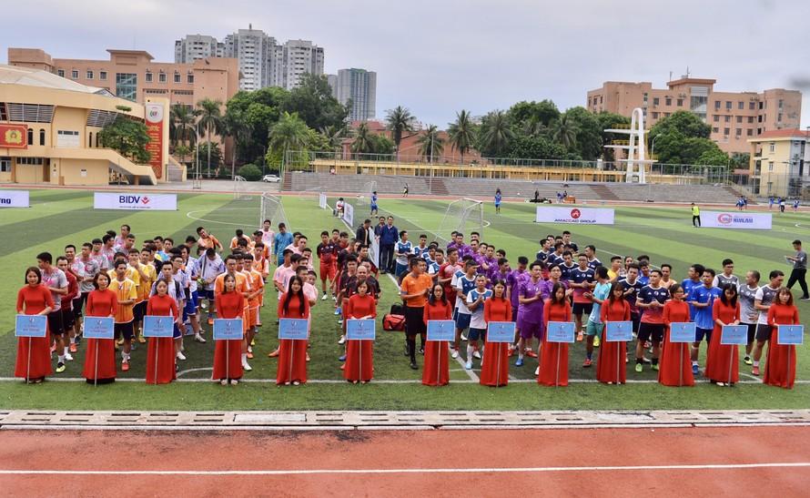 12 đội bóng đá tham dự Giải bóng đá Kinh tế Môi trường lần I-2020.