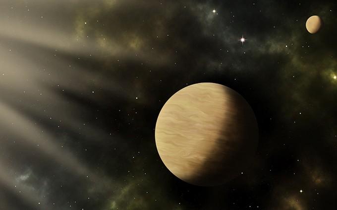Mô phỏng hai ngoại hành tinh TOI-1266 b và c. - Ảnh: Sci-News.