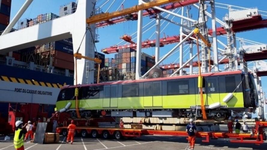 Đoàn tàu đường sắt đô thị Nhổn-ga Hà Nội sẽ cập cảng Hải Phòng vào ngày 18/10.