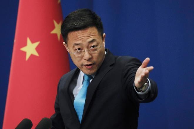 Người phát ngôn Bộ Ngoại giao Trung Quốc Triệu Lập Kiên. (Ảnh: AP)