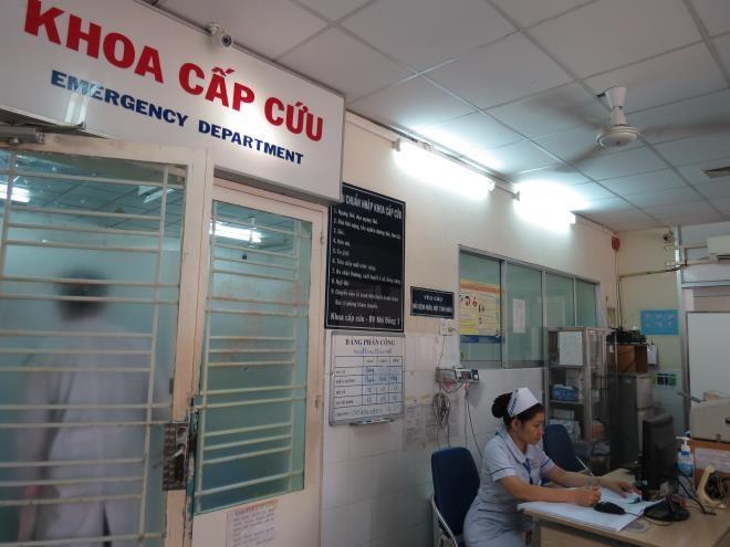 Khoa cấp cứu Bệnh viện Nhi đồng 1 TP.HCM nơi tiếp nhận bệnh nhi.