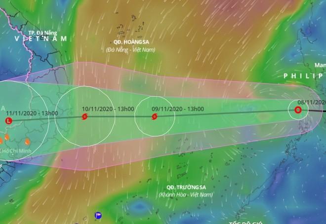 Dự báo đường đi của áp thấp nhiệt đới trên Biển Đông trong những ngày tới