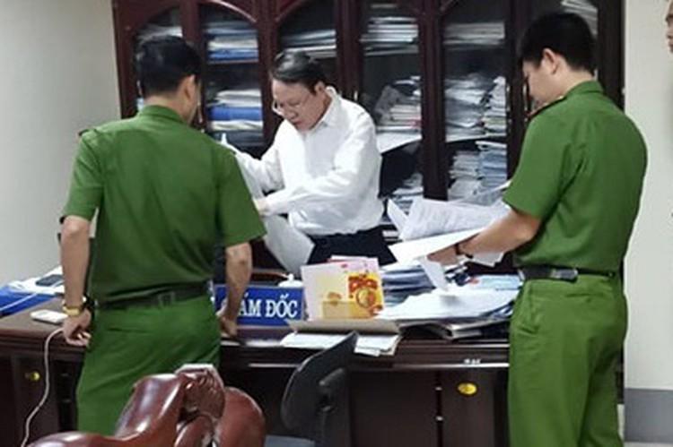 Bị can Đặng Văn Quang (áo trắng). - Ảnh: Zing.vn