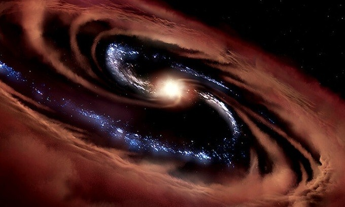 Mô phỏng thiên hà CQ4479. - Ảnh: NASA/ Daniel Rutter.