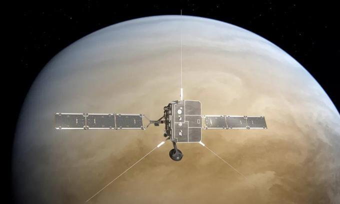 Minh họa tàu Solar Orbiter bay tới sát sao Kim. - Ảnh: ESA/ATG medialab.