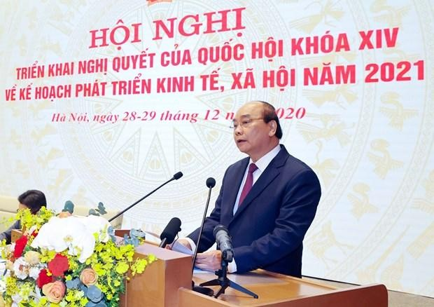 Thủ tướng Nguyễn Xuân Phúc phát biểu khai mạc. (Ảnh: Thống Nhất/TTXVN)