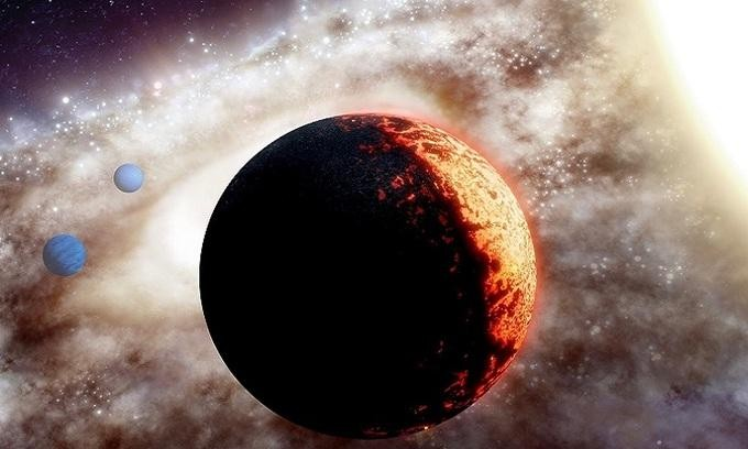 Mô phỏng hệ sao của ngoại hành tinh TOI-561b. - Ảnh: NASA.