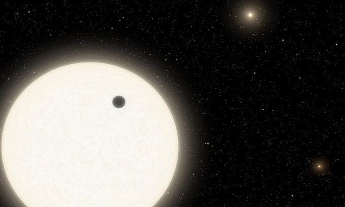 Mô phỏng hệ sao của KOI-5Ab. - Ảnh: NASA.