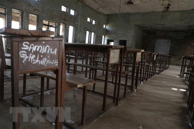 Cảnh vắng vẻ tại lớp học ở Kagara, bang Niger, Nigeria, sau khi xảy ra một vụ bắt cóc học sinh, ngày 18/2/2021. (Ảnh: AFP/TTXVN)