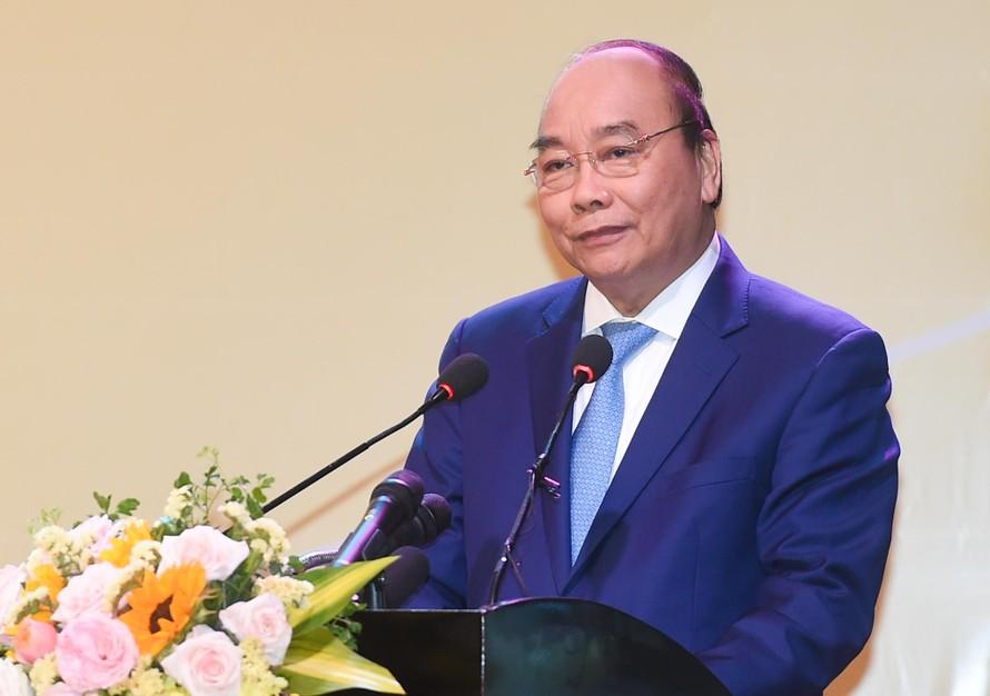 Thủ tướng Nguyễn Xuân Phúc phát biểu tại Hội nghị. - Ảnh VGP/Quang Hiếu