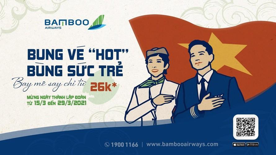 Bùng nổ ưu đãi tháng Ba, Bamboo Airways tung vé bay 26.000 đồng