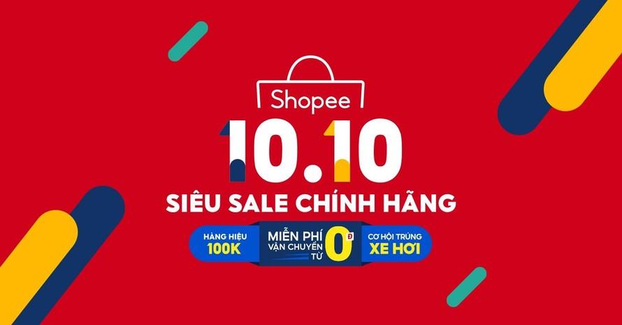 """Shopee siêu sale 10.10 - """"Gói siêu Voucher thương hiệu giá 1k"""", độc quyền trên Shopee Mall"""