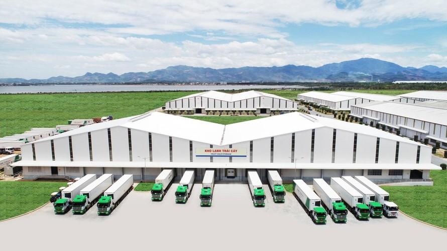 Kho lạnh tại cảng Chu Lai có công suất 2400 tấn.