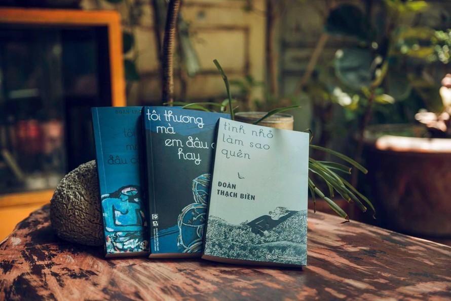 """3 tác phẩm """"Tình nhỏ làm sao quên"""", """"Tôi thương mà em đâu có hay"""", """"Tôi hay mà em đâu có thương"""" vừa được tái bản nhân sinh nhật lần thứ 74 của nhà văn Đoàn Thạch Biền."""