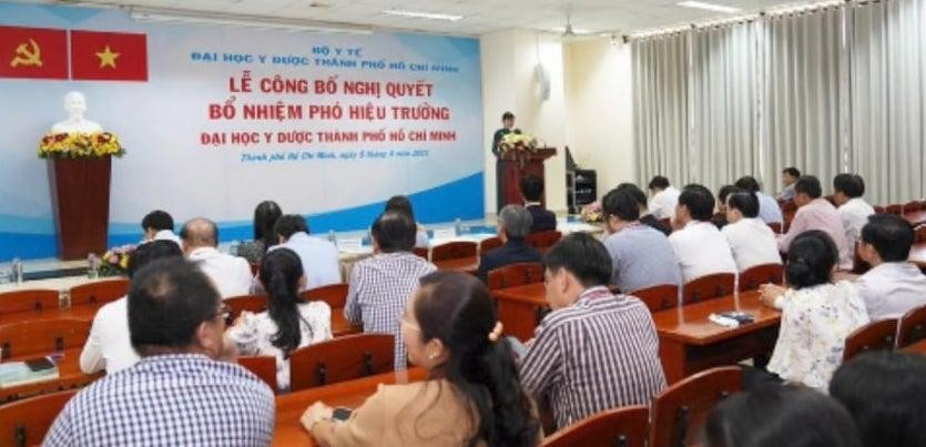 Lễ công bố Nghị quyết của Hội đồng trường về việc Bổ nhiệm chức vụ phó Hiệu trưởng.