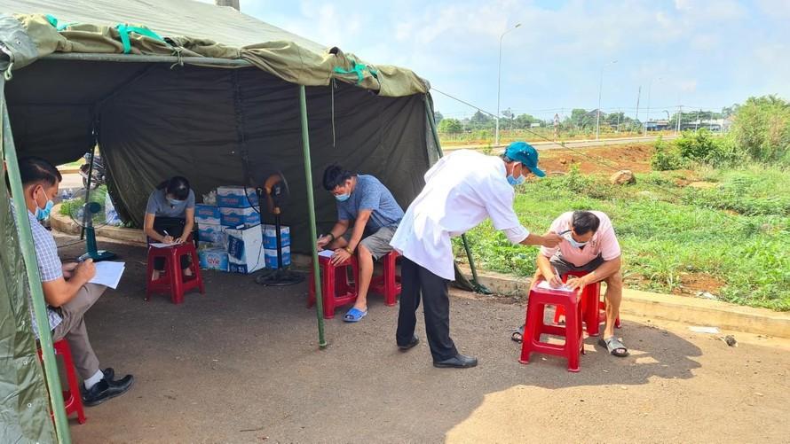 Các chốt kiểm soát trên địa bàn tỉnh Đồng Nai