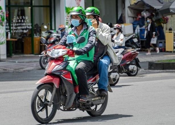 Xe 2 bánh sử dụng ứng dụng công nghệ được phép hoạt động, (Ảnh minh họa)