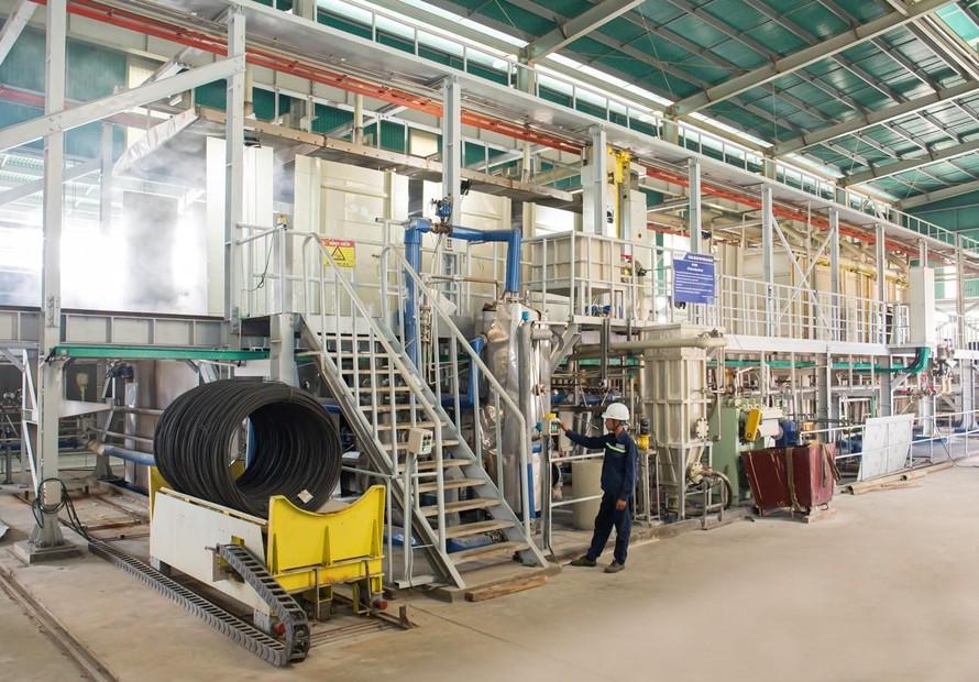 Sản lượng thép rút và dự ứng lực của Hòa Phát tăng 53%