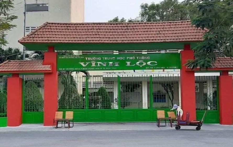 Trường THPT Vĩnh Lộc.