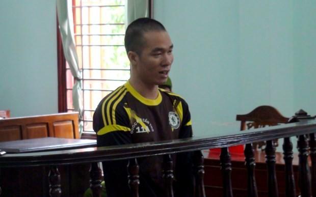 Bị cáo tại phiên toà xét xử.