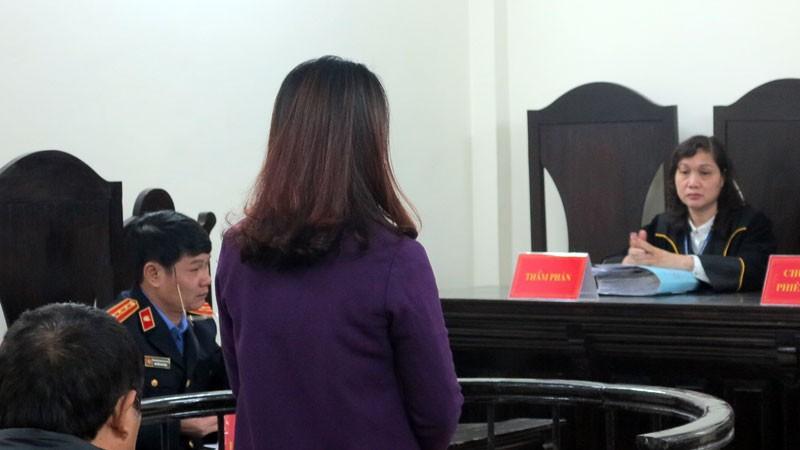 Bị cáo tại tòa.