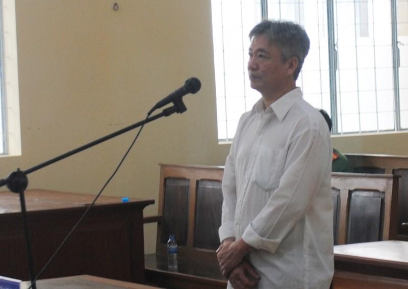 Bị cáo Ngô Trường Sơn tại phiên tòa.