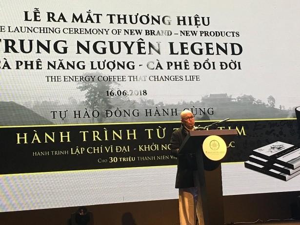 Ông Đặng Lê Nguyên Vũ xuất hiện tại buổi ra mắt thương hiệu