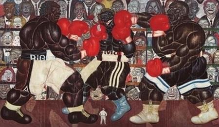 """Bức tranh sơn dầu """"Võ sĩ xứ Bantul"""" của họa sĩ I Nyoman Masidadi được bán với giá 1.000.725 USD"""