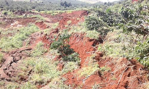 Hiện trường vụ sạt lở đất ở xã Đạ Đờn, huyện Lâm Hà tỉnh Lâm Đồng
