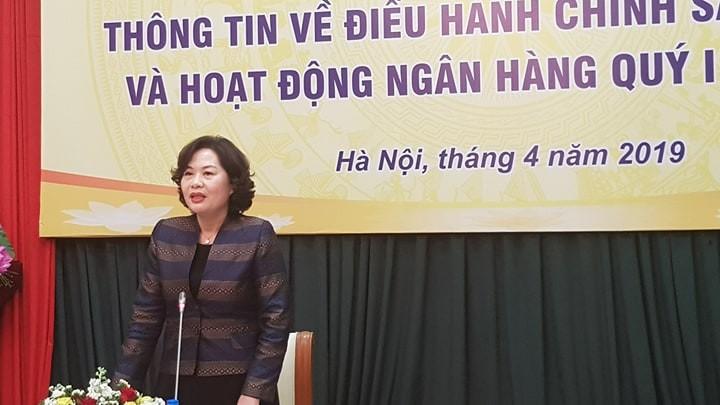Phó Thống đốc Ngân hàng Nhà nước Nguyễn Thị Hồng. Ảnh: Minh Phương.