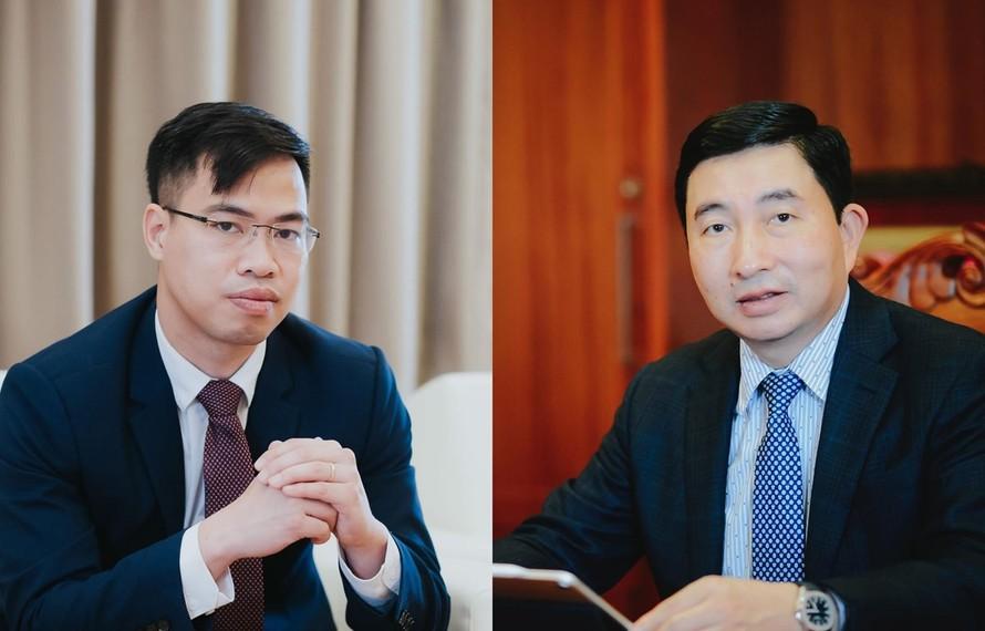 Ông Nguyễn Thanh Nam, CEO của Công ty Mytel (phải) và ông Trần Văn Bằng, CEO của Telemor được đề cử vinh danh Giải thưởng Viễn thông châu Á. (Nguồn ảnh: Viettel)