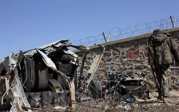 Hiện trường một vụ đánh bom ở Afghanistan. (Nguồn: THX/TTXVN)