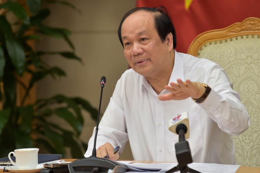 Bộ trưởng, Chủ nhiệm VPCP Mai Tiến Dũng, Tổ trưởng Tổ công tác, phát biểu tại buổi làm việc