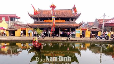 Di tích quốc gia đặc biệt Chùa Keo Hành Thiện, xã Xuân Hồng (Xuân Trường). Ảnh: baonamdinh.vn