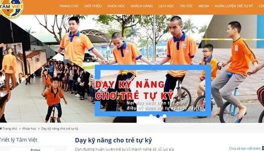Quảng cáo của Trung tâm Đào tạo trẻ tự kỷ Tâm Việt