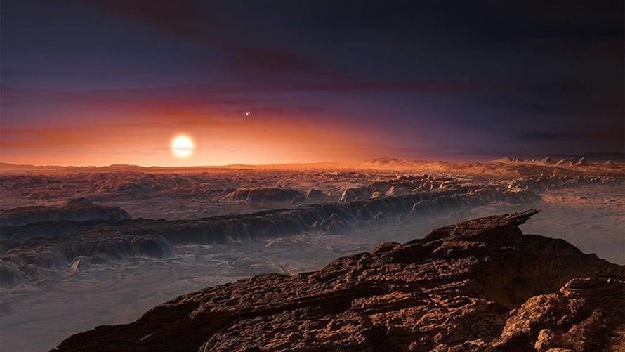 Được phát hiện năm 2016, Proxima b là hành tinh có kích cỡ khá giống Trái Đất và quay quanh ngôi sao gần với chúng ta nhất. Ảnh: ESO/M. Kornmesser