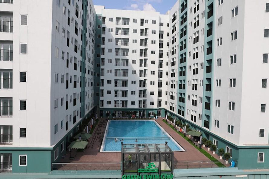 Dự án nhà ở thu nhập thấp tại Bắc Ninh của HUD. Ảnh: NL.