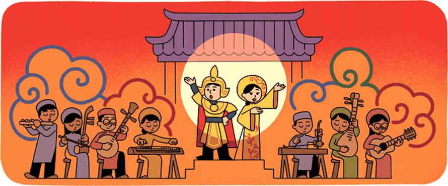 Google thay đổi biểu tượng, tôn vinh nghệ thuật cải lương Việt Nam