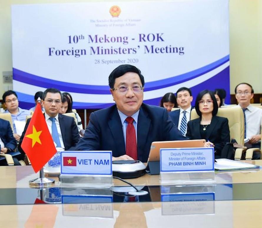 Phó Thủ tướng Phạm Bình Minh đồng chủ trì Hội nghị Bộ trưởng Ngoại giao Mekong-Hàn Quốc lần thứ 10