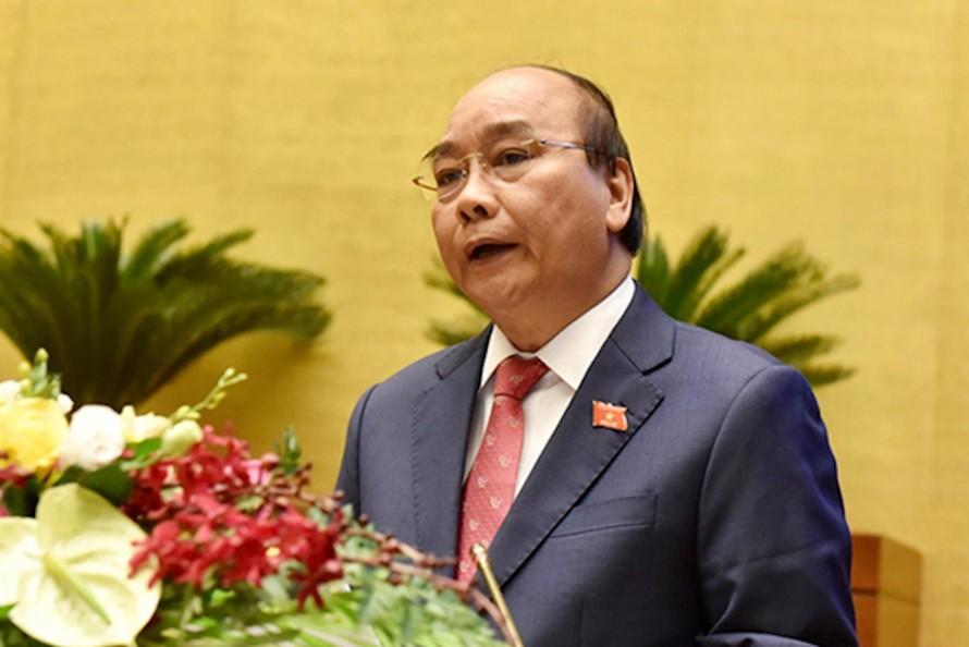 Thủ tướng báo cáo trước Quốc hội.