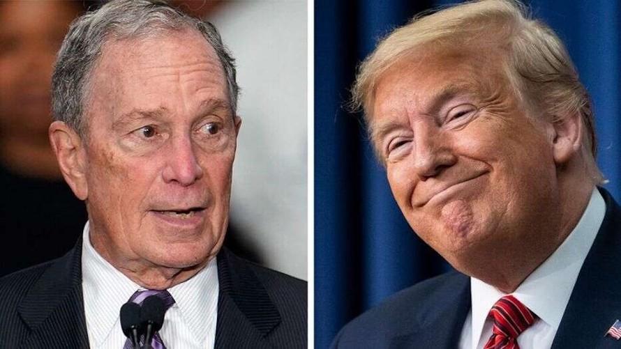 Tỷ phú truyền thông Michael Bloomberg (trái) và Tổng thống Mỹ Donald Trump