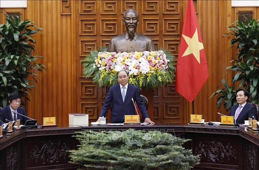Thủ tướng Nguyễn Xuân Phúc phát biểu tại buổi tiếp