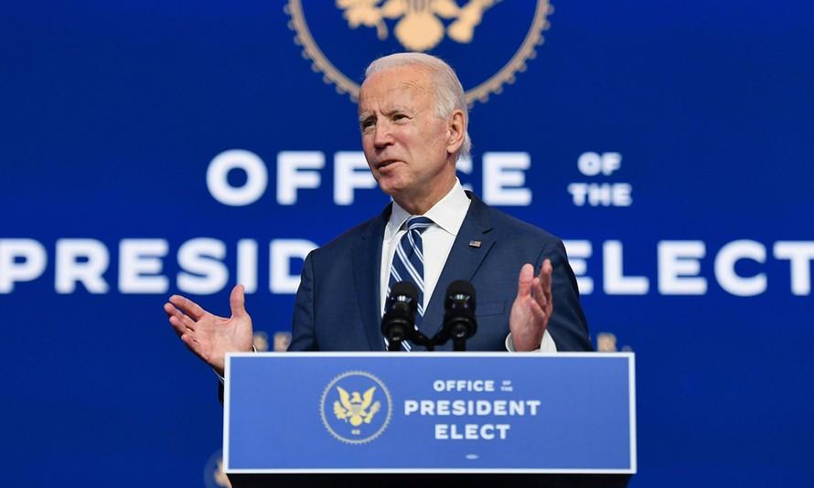 Ông Joe Biden phát biểu tại Wilmington, bang Delaware hôm 10/11